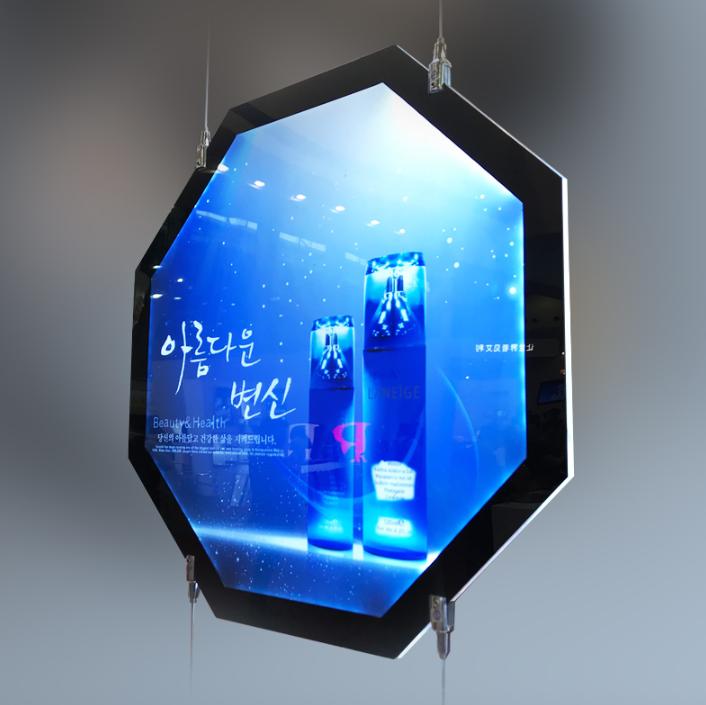 定做异形水晶灯箱 正六边形圆形双面亚克力led发光超薄广告牌定制