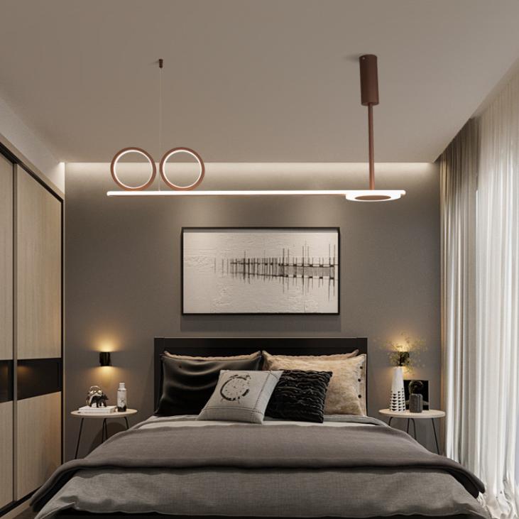 个性创意时尚办公设计客厅家装吊灯 北欧吊灯卧室灯现代简约吊灯