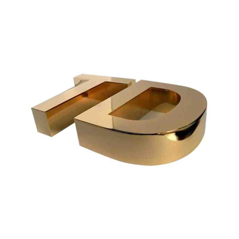 平面钛金字
